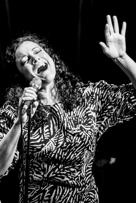 Johanna Graham performing live.